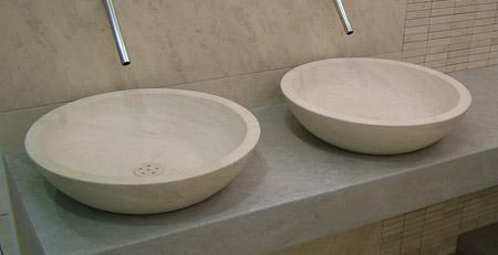 Lavabo da appoggio in pietra leccese - Lavabo pietra bagno ...